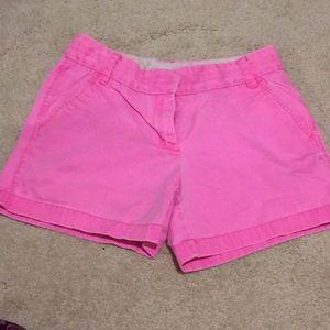 Crew chino pink shorts